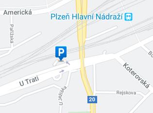 Parkoviště Most Milénia - mapa